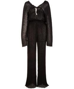 Barbara Casasola | Ribbed Sheer Jumpsuit 44 Polyester