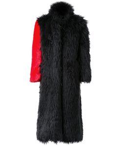 99 IS   99 Is Fur Effect Contrast Sleeve Coat 2