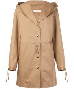 Barbara Casasola | Hooded Buttoned Coat 40 Cotton/Acrylic