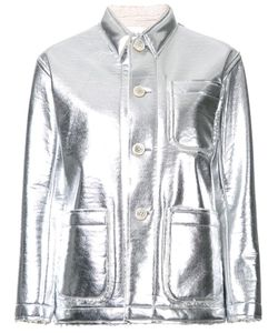 Julien David | Stitch Detail Fitted Jacket Xs Polyester/Aluminium