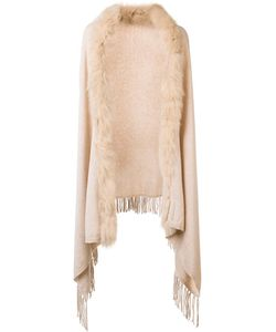 Magaschoni | Fox Fur Trim Cape Fox Fur/Cashmere