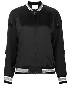 3.1 Phillip Lim | Appliqué Satin Bomber Jacket 0