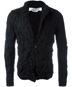 INDIVIDUAL SENTIMENTS | Creased Effect Blazer Adult Unisex 1 Silk/Cotton/Cashmere/Wool