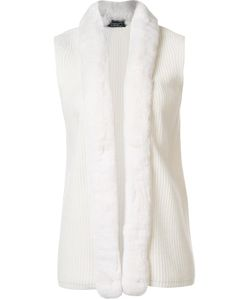 Magaschoni | Fur Trim Knit Vest Small Rabbit Fur/Cashmere/Wool