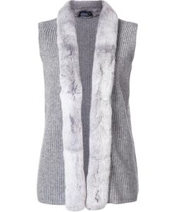 Magaschoni | Fur Trim Knit Vest Medium Rabbit Fur/Cashmere/Wool