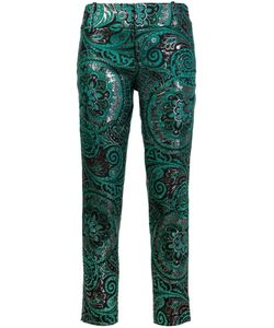 Alice + Olivia | Jacquard Slim Fit Pants 2 Polyester