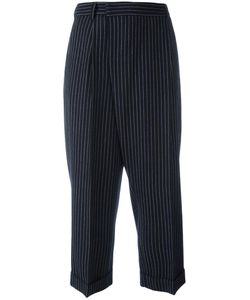 Alberto Biani | Pinstriped Tapered Trousers 40 Cotton/Spandex/Elastane/Virgin Wool