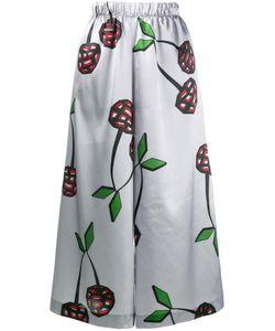 Natasha Zinko   Cherry Print Satin Culottes 38 Polyester/Spandex/Elastane