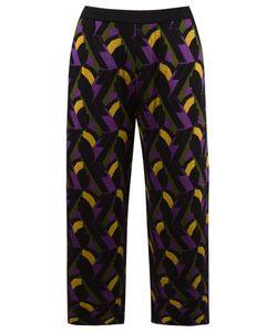 Gig | Cropped Pattern Knit Trousers G Viscose
