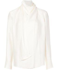 Barbara Casasola | Draped Neck Longsleeved Blouse 42 Silk