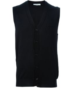 Paolo Pecora | Sleeveless Cardigan Large Wool