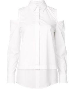 Kaufmanfranco   Cut-Off Shoulders Shirt Small Silk/Cotton/Spandex/Elastane
