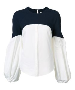 HELLESSY | Contrast Panel Bishop Sleeve Blouse 8 Nylon/Spandex/Elastane/Virgin