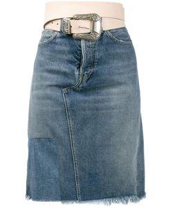 Golden Goose | Deluxe Brand Belted Denim Skirt Medium