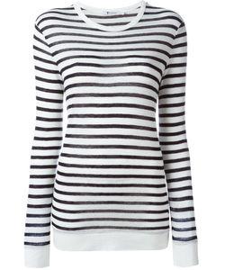 T By Alexander Wang | Striped T-Shirt Medium Linen/Flax/Rayon