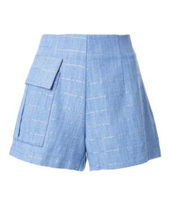 MANNING CARTELL | Patch Pocket Striped Shorts 10 Cotton