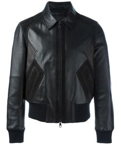 Neil Barrett | Zipped Leather Jacket Large Lamb Skin/Polyamide/Spandex/Elastane/Polyacrylic