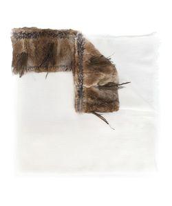 CUTULI CULT | Fur Panel Scarf Rabbit Fur/Modal/Cashmere/Feather