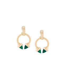 Eshvi | Faux Malachite Earrings
