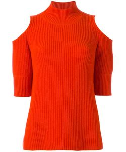 ZOE JORDAN | Cold Shoulder Jumper Medium Cashmere/Wool