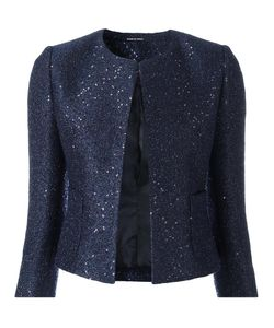Tagliatore | Sequin Embellished Cropped Jacket 40 Acrylic/Polyester/Cupro/Wool