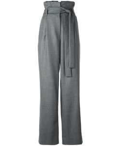 Miahatami | High-Rise Belted Straight Trousers 42 Virgin Wool