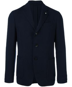 Lardini | Notched Lapel Blazer 50 Cupro/Viscose/Wool