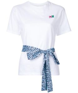 FLEAMADONNA | Ribbon Detail T-Shirt Medium Cotton/Polyester