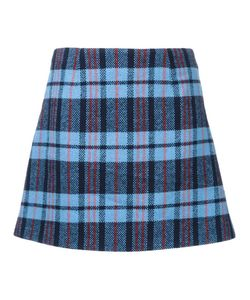 FLEAMADONNA | Checked Mini Skirt Medium Acrylic/Wool