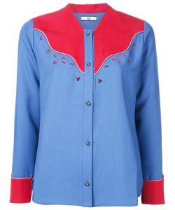 Non Tokyo | Collarless Shirt Medium Polyester