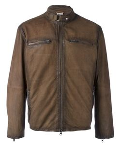 D'Amico | Zip Pocket Jacket 48 Cotton/Leather/Polyester