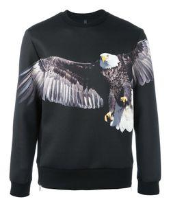 Neil Barrett | Eagle Print Sweatshirt Mens Size Large Polyester/Polyurethane/Viscose