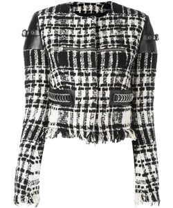 Alexander Wang | Cropped Bouclé Jacket 2 Cotton/Linen/Flax/Lamb Skin/Wool