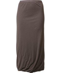 Rick Owens Lilies | Draped Long Skirt Medium Cotton/Polyamide/Viscose