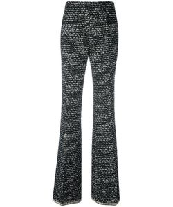 Giambattista Valli | Exposed Stitching Flared Trousers 46 Polyamide/Polyester/Acetate
