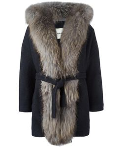 AVA ADORE | Fur Trim Coat 44 Acrylic/Wool/Raccoon Dog