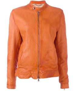Pihakapi | Crumpled Effect Zipped Jacket Xs Lamb Skin/Viscose