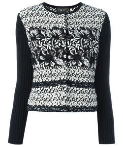 Giambattista Valli | Ribbed Sleeve Tweed Jacket 48 Cotton/Polyamide/Viscose/Virgin