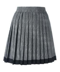 Versace | Mini Pleated Envers Skirt 42 Silk/Polyester/Spandex/Elastane/Wool