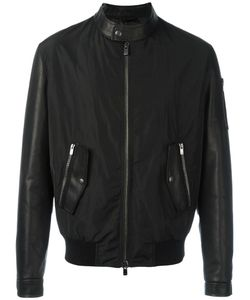 Drome | Contrast Bomber Jacket Large Cotton/Leather/Polyamide/Viscose