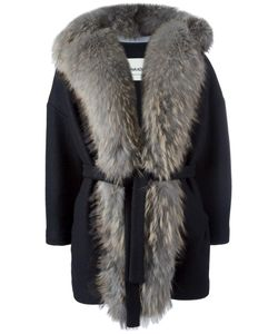 AVA ADORE | Fur Detail Jacket 44 Acrylic/Wool/Raccoon Dog