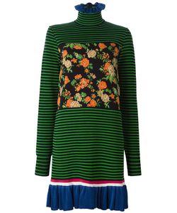 MSGM | Floral Striped Dress Womens Size Medium Cotton/Polyamide/Viscose