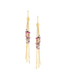 NATASHA COLLIS | Diamond Sapphire Rod Earrings
