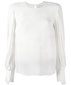 3.1 Phillip Lim | Draped Sleeve Blouse 8 Silk