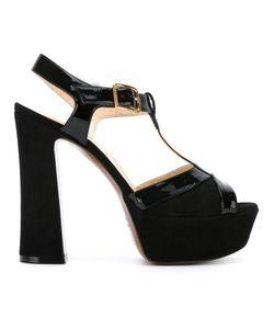 L' Autre Chose | Lautre Chose Platform T-Bar Sandals 37.5 Calf Leather/Leather