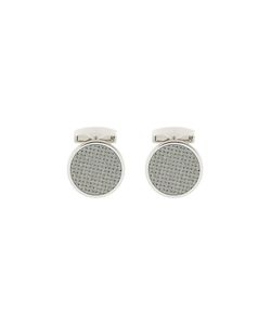 Rt By Tate Tateossian | Knit Pattern Cufflink Rhodium/Enamel