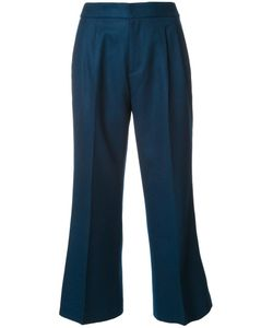 LOVELESS | Flared Cropped Trousers 36 Lambs Wool
