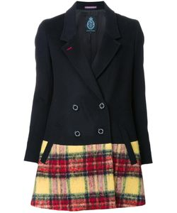 GUILD PRIME | Plaid Detailing Mid Coat 36 Lambs