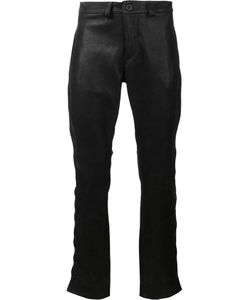Black Fist | Button Knee Leather Pants 30 Leather