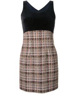 LOVELESS | Plaid Sleeveless Dress 34 Cotton/Acrylic/Nylon/Wool